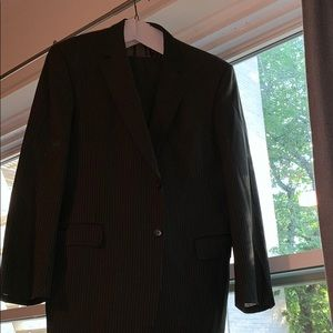 JoS.A.Bank Light Grey Pinstripe Suit